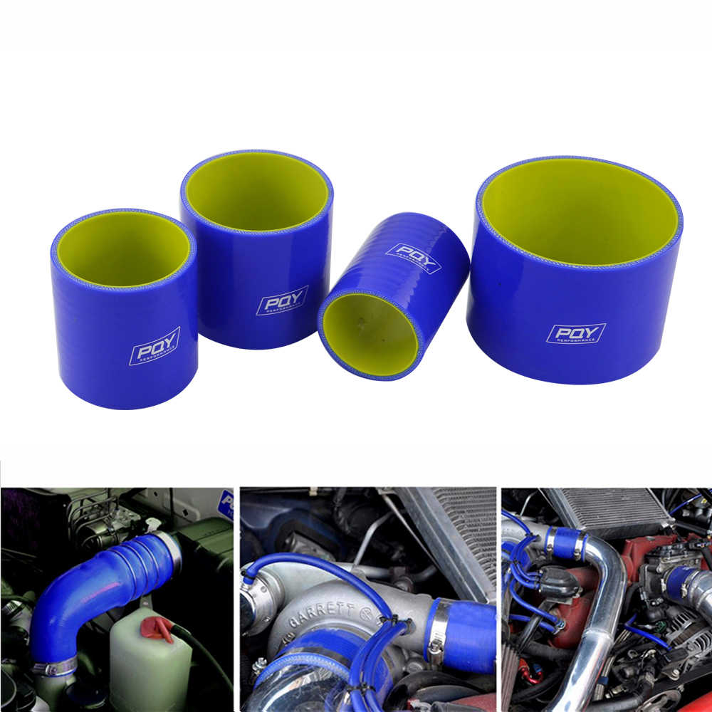 """Pqy-Blauw & Geel 3.0 """"76 Mm Straight Siliconen Intercooler Turbo Intake Pipe Koppeling Slang PQY-SH0030-QY"""
