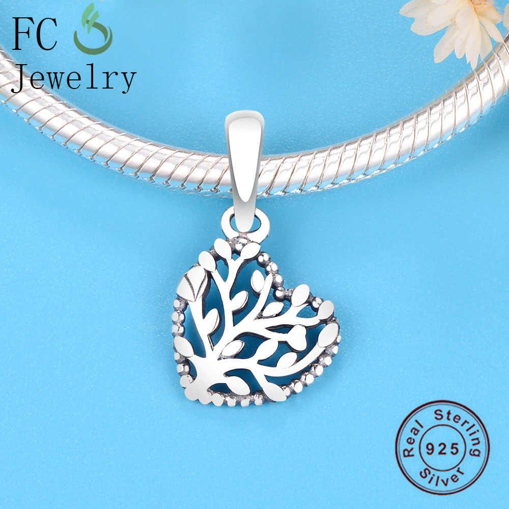 FC เครื่องประดับ Fit Pandora Charm สร้อยข้อมือ 925 เงินสเตอร์ลิง Lucky Coral Tree of life จี้ลูกปัดทำ Berloque 2019