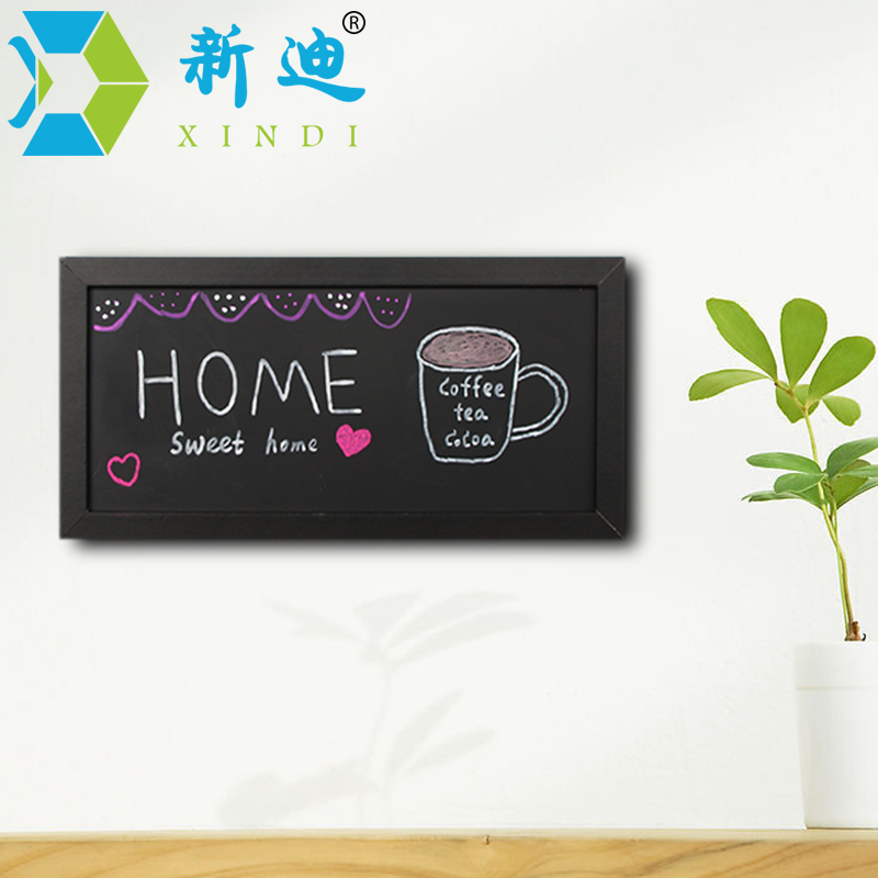 XINDI New Small Magnetic Wooden Blackboard For Notes MDF Frame 15*30cm Home Decorative M ...
