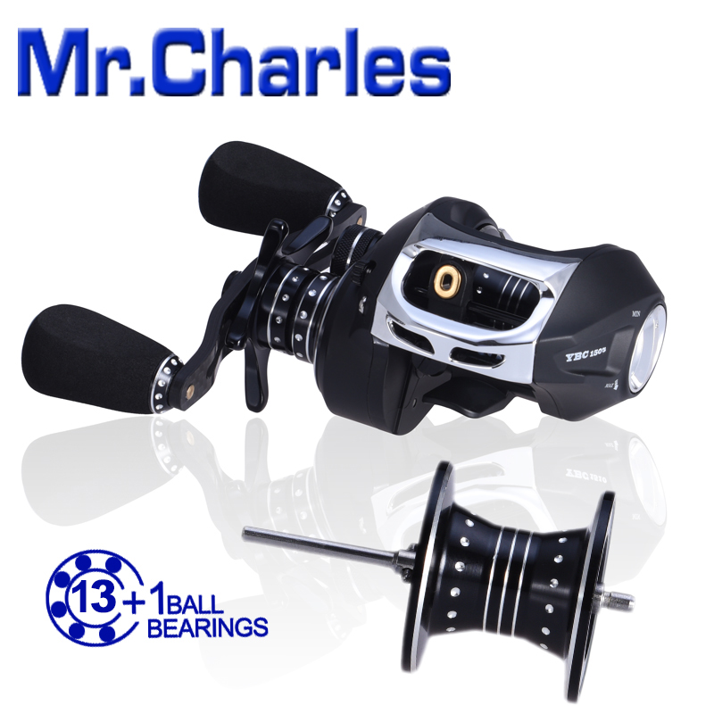 MrCharles 13BB + 1RB NMB 6,5: 1 Cyclone1505 / 1510 Bait Casting Kołowrotek wędkarski Tyczki Kołowrotki