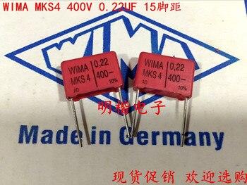 цена на 2019 hot sale 10pcs/20pcs Germany WIMA MKS4 400V 0.22UF 220nf 400V 224 P: 15mm spot Audio capacitor free shipping