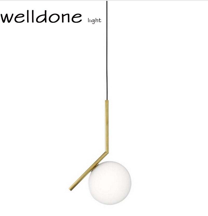 Nordic Contemporary Design Replica IC pendant lamp Michael Glass aluminum lampshade ball Suspension Lighting free shipping