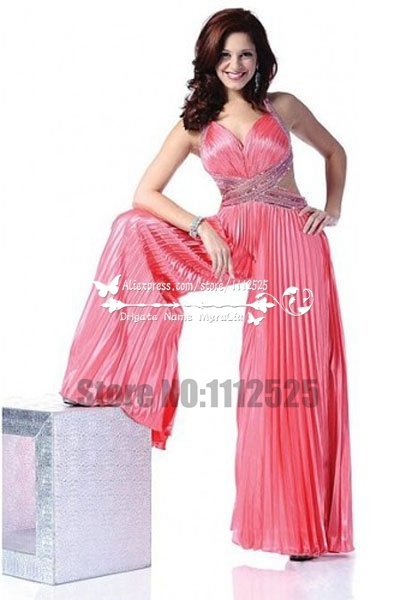 Aep 6005 Prom Dress With Pants Bridal Jumpsuit Wide Legs Trousers