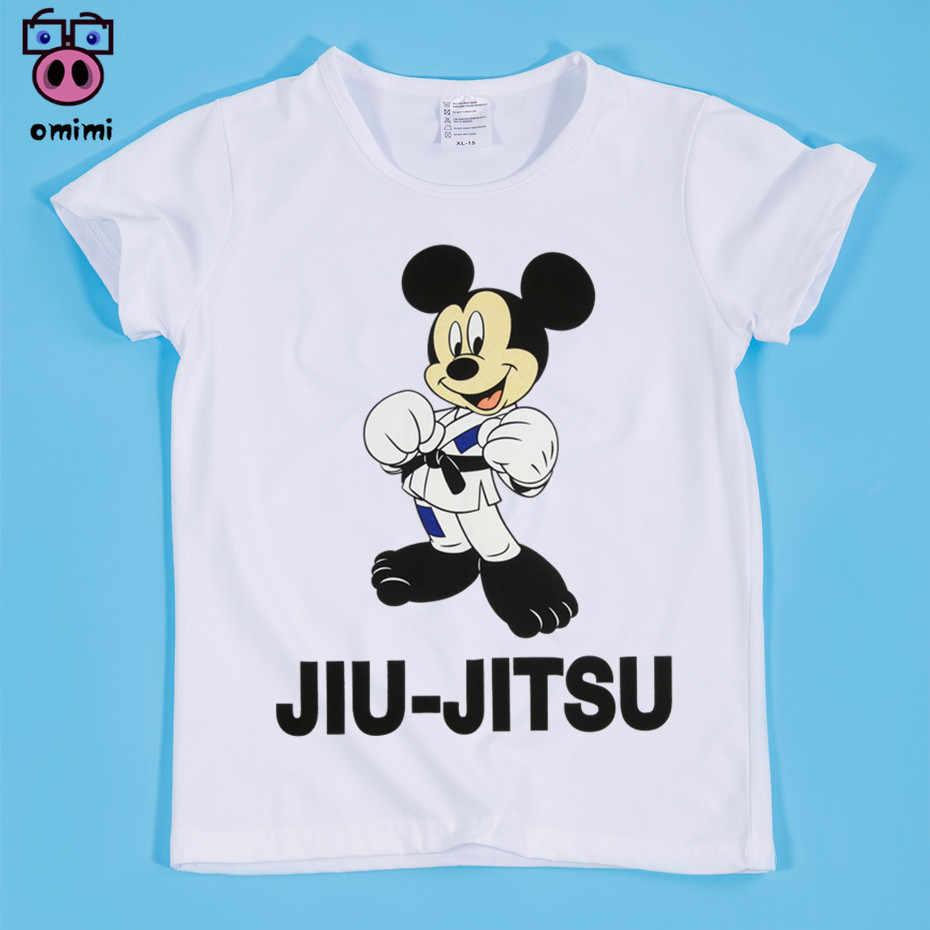 1bb07a421da52 Возрастом от 2 до 14 лет, детский джиу-джитсу печати белая футболка для  мальчиков