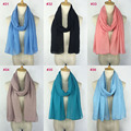 Factory directly selling plain Maxi Shawl Pashmina Muslim Hijab Viscose Scarf Head Solid Color for Women Girls