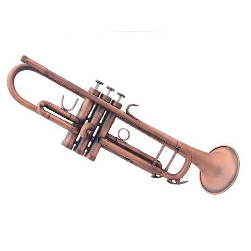 B plat professionnel trompette Antique cuivre Simulation Bb Trompete Instruments de musique en laiton Trombeta pour les débutants et les enfants