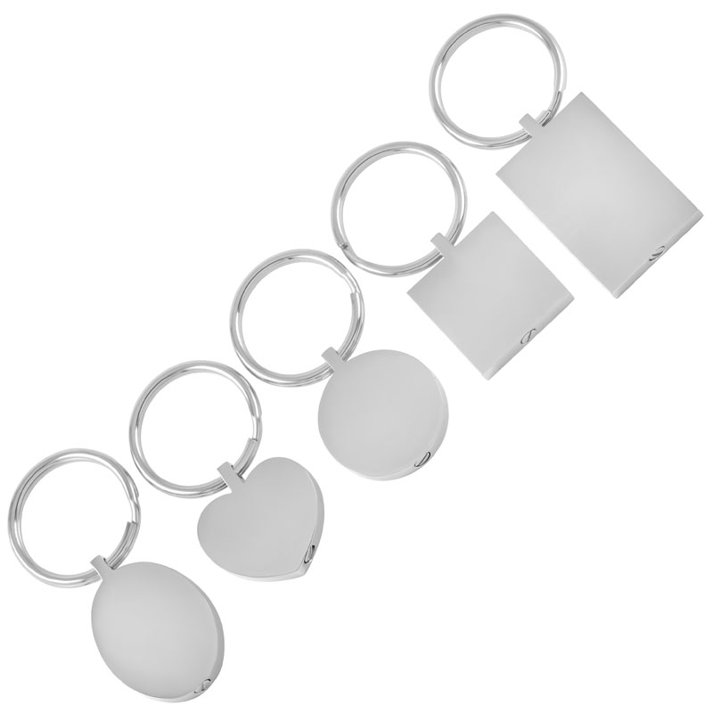 IJK2010 Five piece set CREMATION KEYCHAINS Stainless Steel Ashes Holder Keepsake Memorial Urn Jewelry