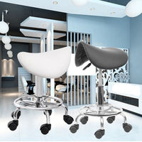 (Ship from EU) Hydraulic Saddle Salon Stool Massage Chair Tattoo Facial Spa Office