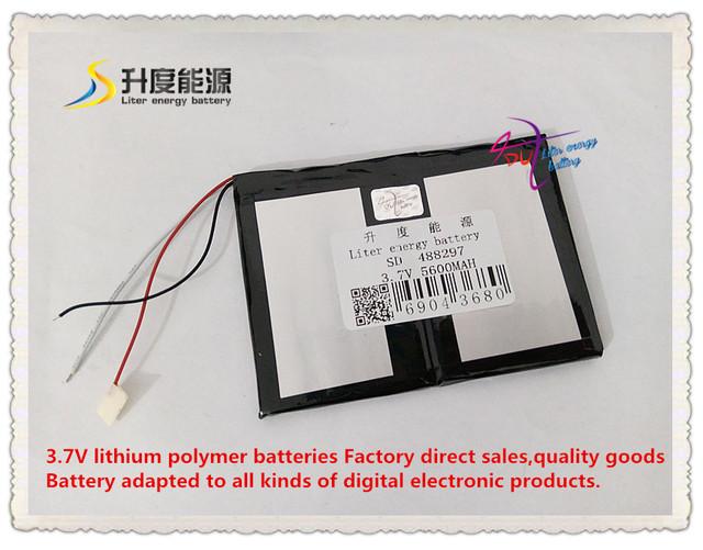 3.7 V 5600 mAh 488297 bateria De Polímero de iões de lítio/bateria do Li-íon (celular ATL) para pipo tablet pc BANCO de POTÊNCIA telefone celular cubo