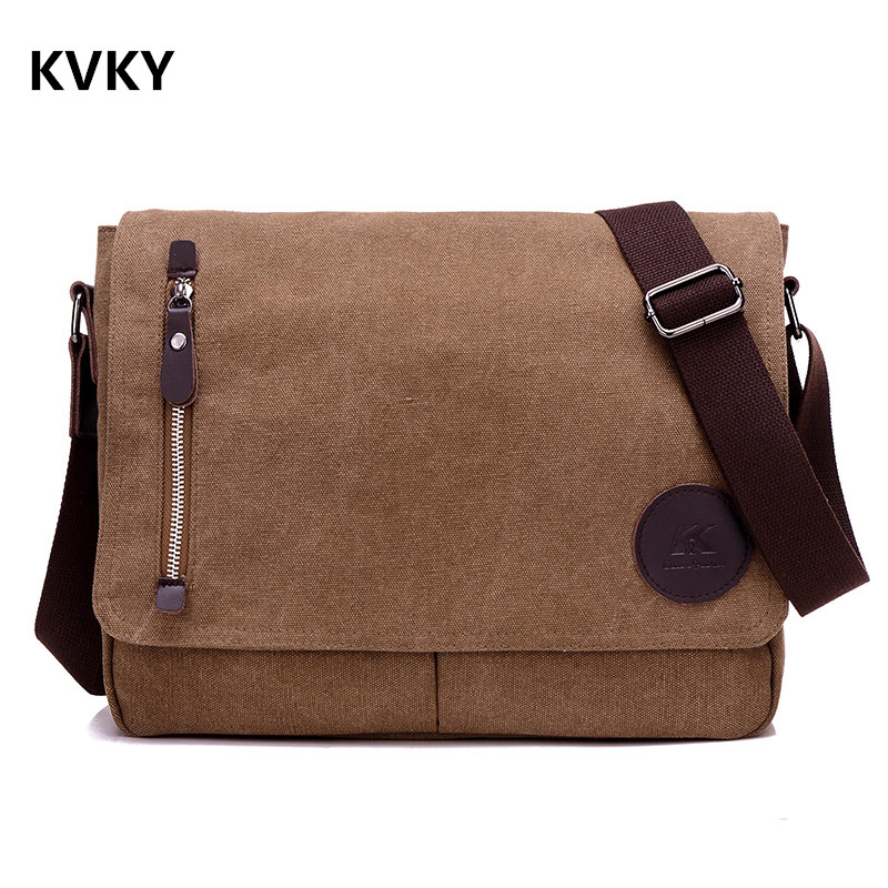 Vintage Men Canvas Messenger Bags Black Travel Bag Male Shoulder Crossbody Bag Classical Casual Trunk Unisex Big Handbags