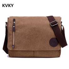 лучшая цена  Vintage Men Canvas Messenger Bags Black Travel Bag Male Shoulder Crossbody Bag Classical Casual Trunk Unisex Big Handbags
