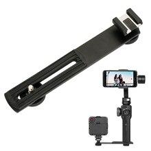 BY-C01 Metal Soğuk Ayakkabı Plaka Evrensel Zhiyun için Pürüzsüz 4/Pürüzsüz Q Gimbal Canon nikon kamera iPhoneX led ışık BY-MM1 M...