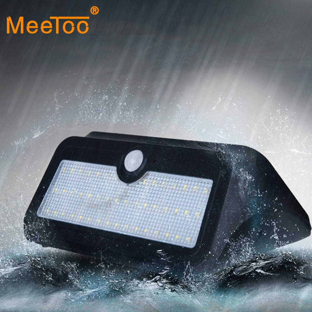 46 LED Solar Power Motion Sensor Wall Light Outdoor Yard Garden Lamp Waterproof