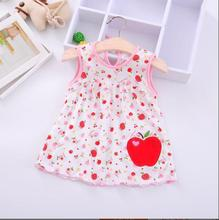 2019 summer  baby girls printing butterfly dress Multicolor casual kids clothes clothing Loose cute cotton Princess
