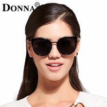 DONNA New Fashion Cat Eye Sunglasses Women White Frame Gradient Polarized Sun Glasses Driving UV400 Aluminium D67