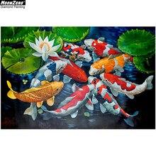 Diy 5D Diamond Painting Full Square Drill Cross Stitch Kits Embroidery Accessories Koi fish Animal Mosaic Home Decor