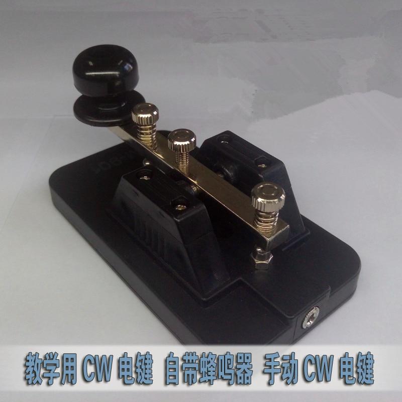Telegraph exerciser comes with buzzer shortwave radio Morse code manual CW key