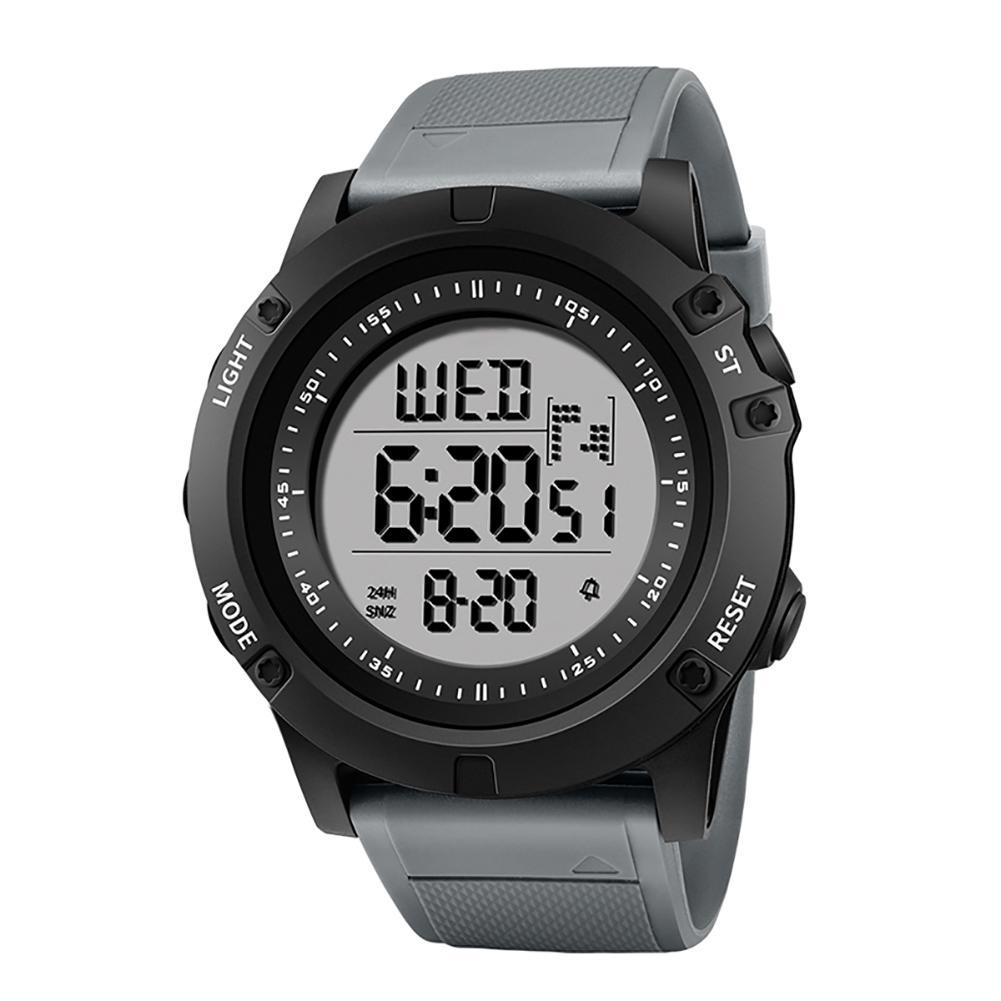 Outdoor Hiking Waterproof Backlight Sports Digital Men Wrist Watch Stopper Alarm watch men relogio reloj pasnew men s pressure outdoor sports waterproof wrist watch