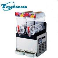 High Quality Commercial 2 Tank Smoothie Maker Frozen Drink Slush Slushy Making Machine 220V / 110V 2*15L
