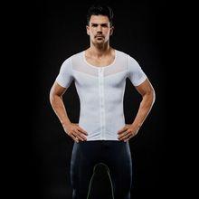 474892128748f Men Mesh Patchwork Slimming Boobs Body Shaper Compression T-shirt Abdomen  Control Men Short Sleeve