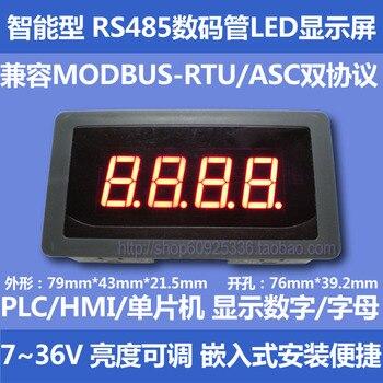RS485 puerto serie LED pantalla de tubo Digital módulo 485 Módulo de pantalla PLC comunicación MODBUS-RTU/ASC