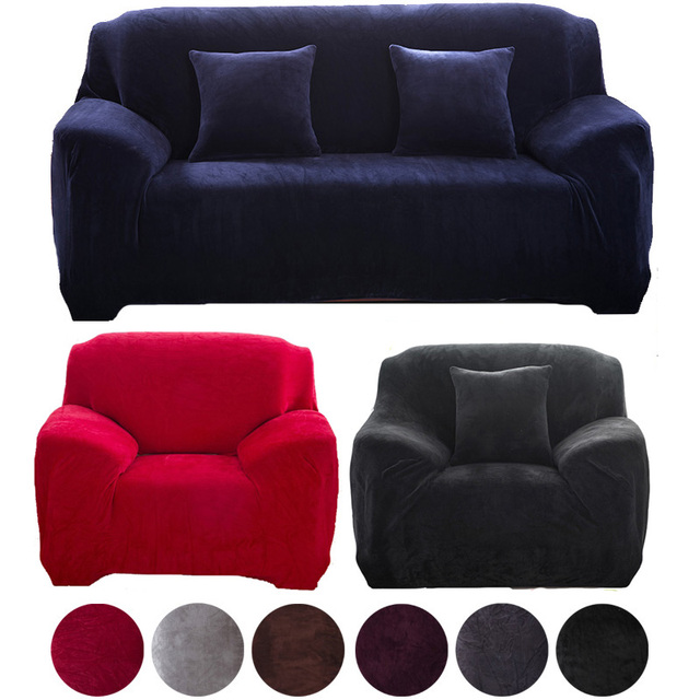 Autumn Winter Stretch Slipcover 1 2 3 Seater L Shaped Sofa Cover Armchairs Home Decor
