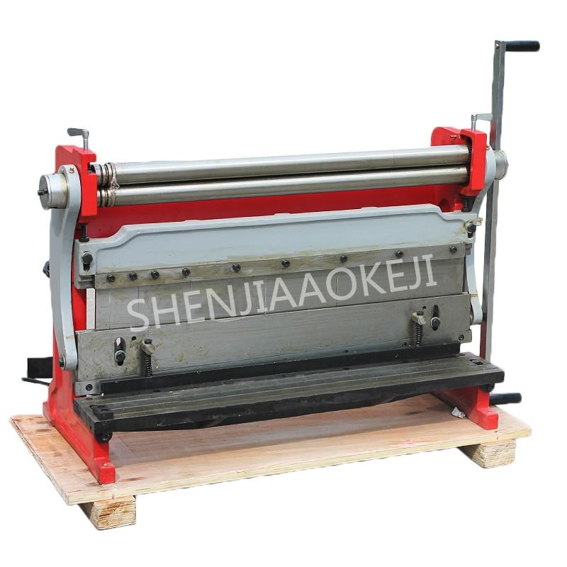 Bending machine Rolling machine 760mm Manual shearing machine three-in-one copper iron aluminum plate multifunction machine 1pc 1pc new manual sheet metal iron aluminum copper plate bending machine