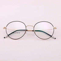 2019 Alloy Metal Round Large Frame Glasses Unisex Decorative Spectacles Lightweight Clear Lens Retro Eyewear For Men Women