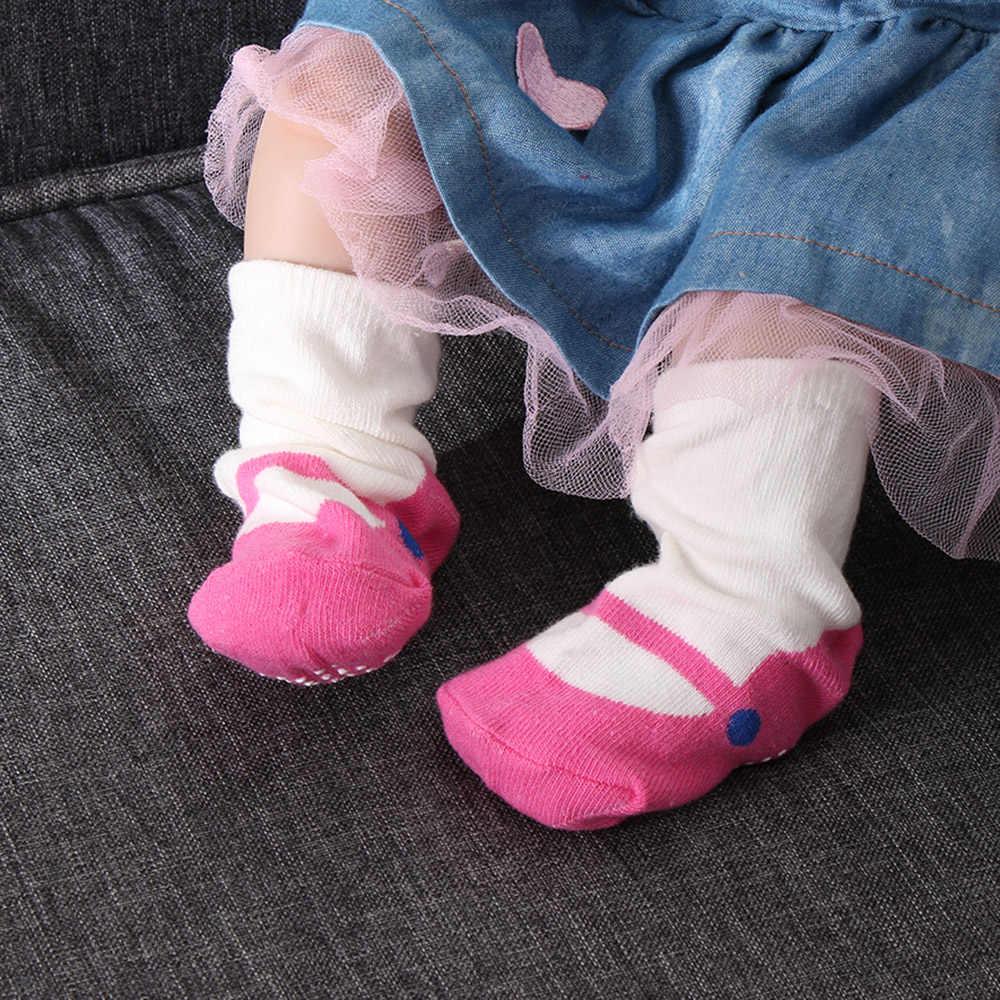2018 otoño nuevos calcetines para zapatos de bebé NIÑOS Calcetines de suelo interior NIÑOS Calcetines de algodón de dibujos animados suela de cuero antideslizante calcetines toalla gruesos