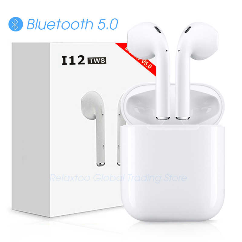 d6aa8f9d530 i12 tws Bluetooth Earphone Wireless earphones Touch control Earbuds 3D  Surround Sound & Charging case for