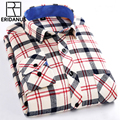 ERIDANUS 2016 Men Fashion Casual Shirt Spring New Arrival High Quality Cotton Long Sleeve Slim Fit Plaid Business Shirts M436