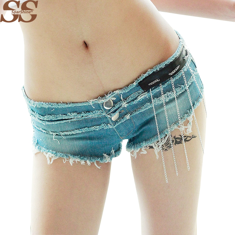 Denim Shorts Feminino  Low Waist  European And American Style Mini Parties Style Casual Clothes Fashion