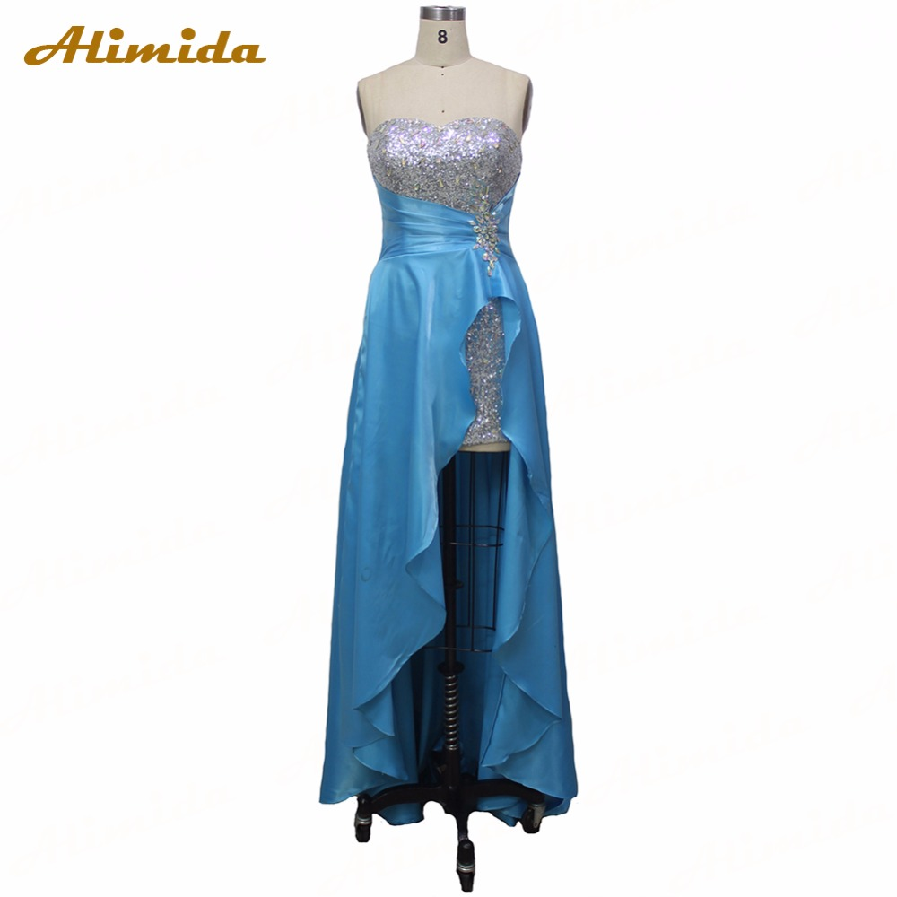 100% Real Photo Bridesmaid Dress 2017 Short Front Long Back Elegant Party Gowns Formal Dresses Custom Made robe de soiree