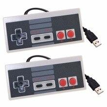 Dla konsoli nintendo NES Mini klasyczna edycja dla PC windows 7/8/10 Raspberry Pi dla komputerów Mac kontroler przewodowy USB do gier Joypad Joystick 2 sztuk