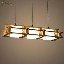 Современная дерево столовая гостиная подвесные светильники светильник люстры де сала из светодиодов шкентель светильник lamparas де techo colgante
