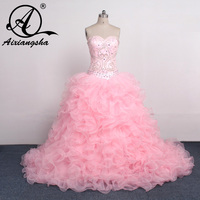 2018 Sweetheart lace up Pink Dress 15 Years Of Detachable Skirts Quinceanera Dresses Ball Gown cheap sweet 16 dresses