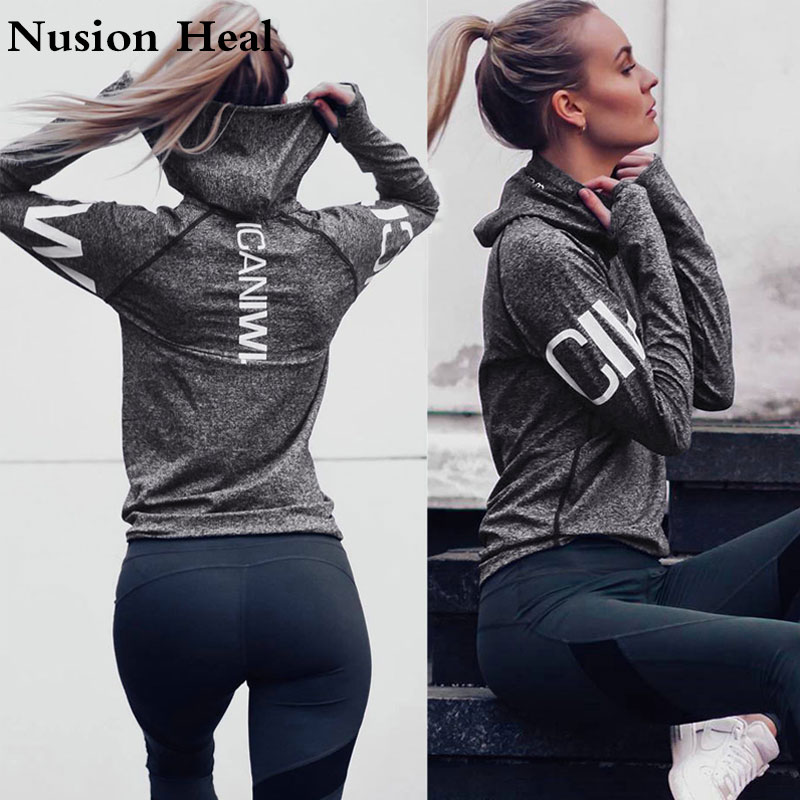 Fitness Breathable Sportswear Women T Shirt Sport Suit Yoga ShirtsTop Quick Dry Running Shirt Gym Clothes Sport Shirt Jackets in Yoga Shirts from Sports Entertainment