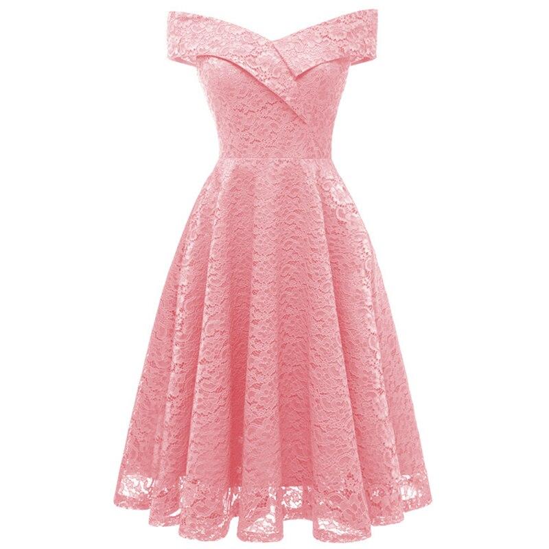 Belle Poque  2018 women summer dress Pink Off Shoulder V-Neck Retro Vintage 50s 60s Elegant Dress Sexy Rockabilly Party Dress