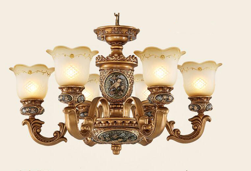 Us 108 37 European Style Antique Chandeliers Lamps 6 Lights Bedroom Dining Room Vintage Chandelier Hanging Light In Pendant From
