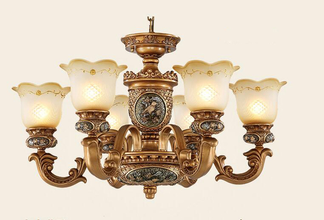 European style Antique chandeliers lamps 6 lights bedroom dining room  European vintage chandelier hanging light - European Style Antique Chandeliers Lamps 6 Lights Bedroom Dining