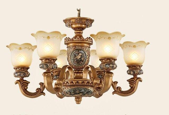 Stile antico europeo lampadari lampade 6 luci camera da letto sala