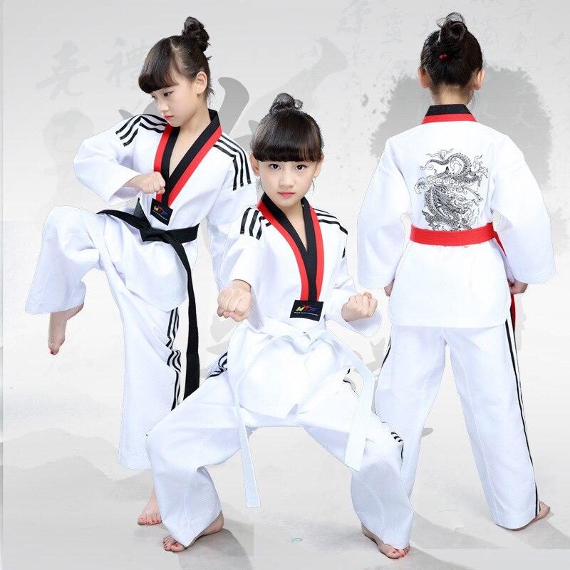 2018 NUEVOS hijos adultos Uniformes blancos de dobok taekwondo taek - Novedad