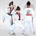 2018 nuevos niños adultos blanco dobok taekwondo uniformes taek ganó ropa de manga larga transpirable niños taekwondo WTF ITFclothing