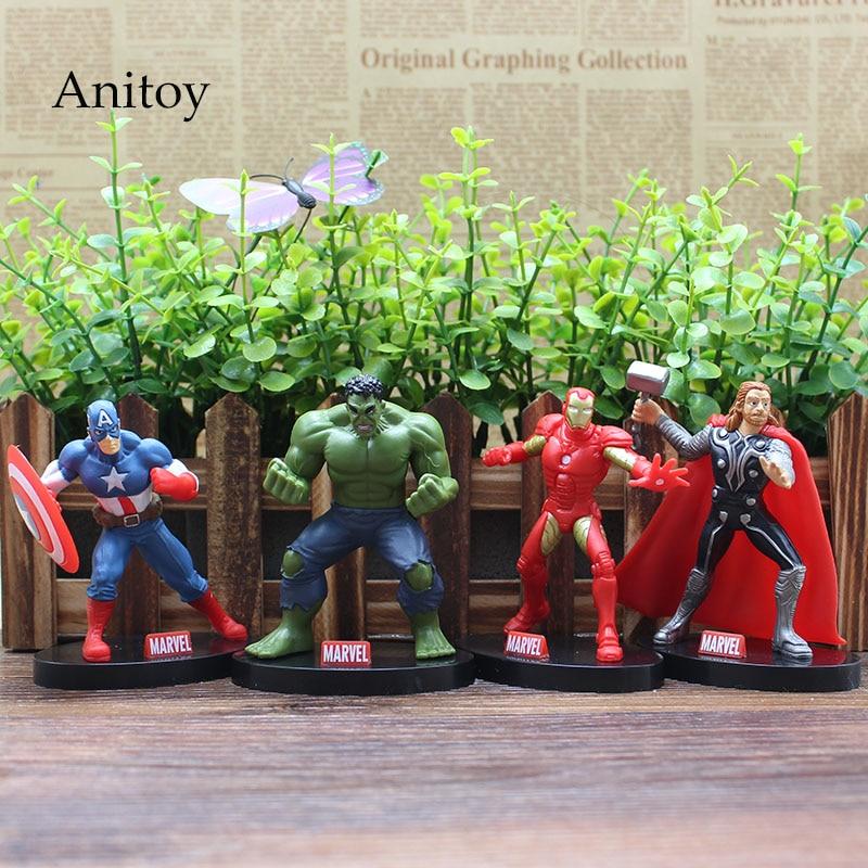 font-b-marvel-b-font-the-avengers-iron-man-hulk-thor-captain-america-pvc-action-figures-collectible-model-toys-9cm-kt3617