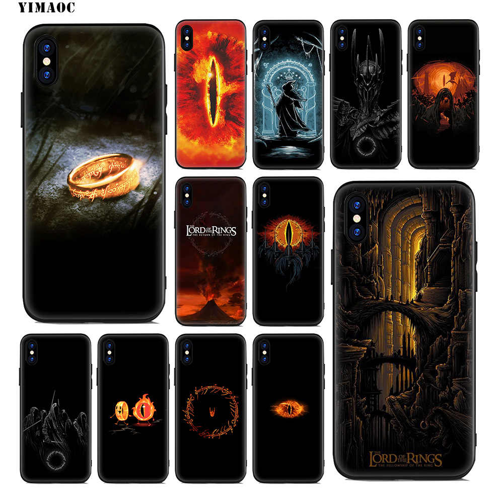 LORD OF THE RINGS YIMAOC Soft Case de Silicone para iPhone Xr Xs Max X ou 10 8 7 6 6S Plus 5 5S SE Tampa