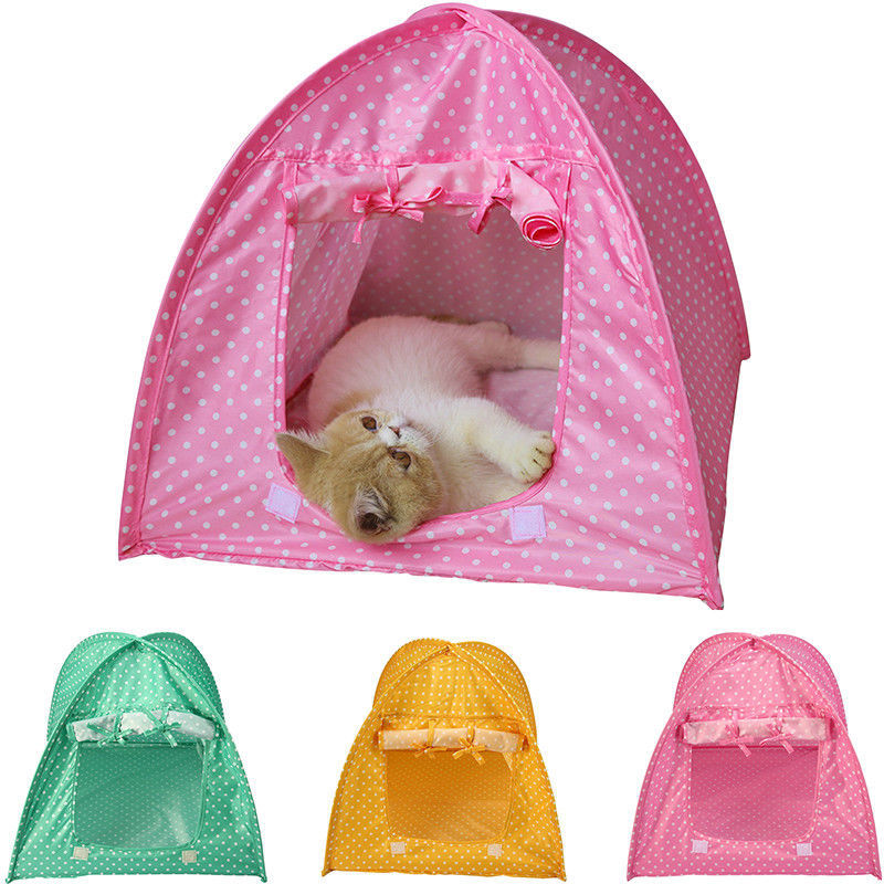Pets Cat Dog Portable Folding Tent Bed H