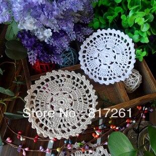 Лучшие продажи 30 pic 6 см и 10 см круглые подставки под Кружки coaster подушка в цветочек doily для свадебного украшения вязаные скатерти