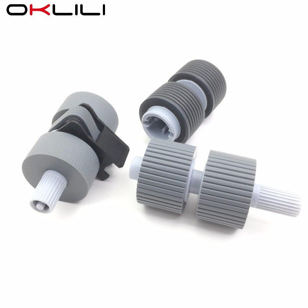 цена на 1SETX PA03338-K011 PA03576-K010 Pick Roller Brake Roller for Fujitsu fi-6670 fi-6770 fi-6750 fi-6750s fi-5750C fi-5650C fi-5650
