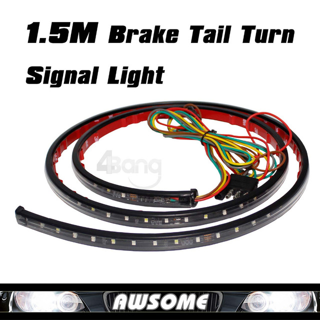 "For Ram 1500 Ram 2500 Ram 3500 1997-2009  60"" Tailgate Red White LED Light Bar For Backup Reverse Brake Tail Turn Signal Light"