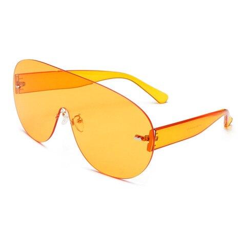 Oversized Shield Visor Sunglasses Women Large Size Sunglasses Men Transparent Frame Vintage Big Windproof Retro Top Hood Glasses Islamabad